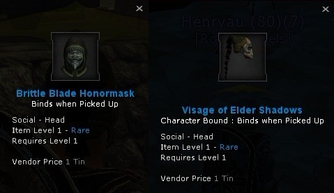 Brittle Blade Honormask_Visage of Elder Shadows